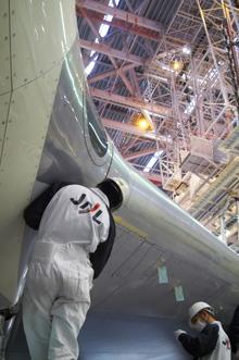 JAL機体整備工場